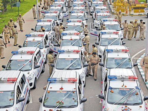 Bengaluru cops get 222  high-tech Hoysala patrol vehicles