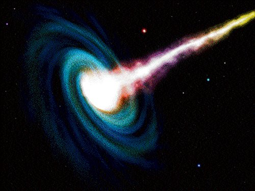 Growing, supermassive black hole discovered