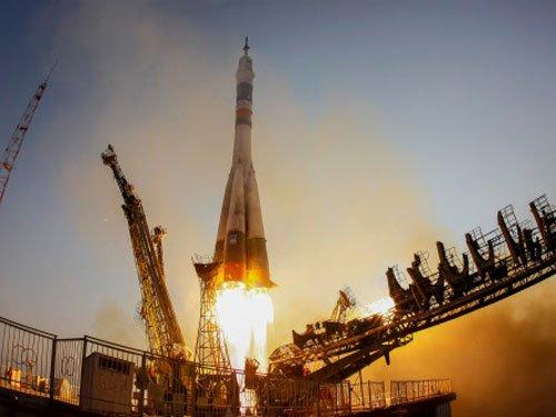 Three astronauts blast off for ISS in upgraded Soyuz craft