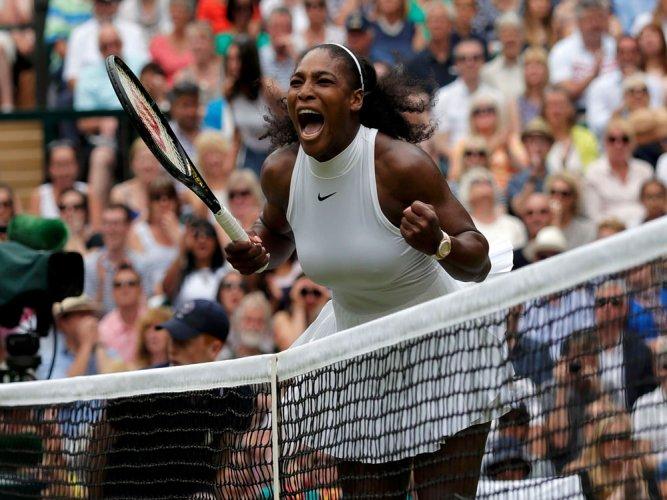 Serena beats Kerber in Wimbledon final to match Graf's record