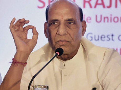Rajnath reviews law and order situation in J&K