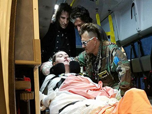 Johnny Depp meets paralyzed fan before concert