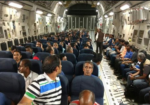 156 Indians evacuated from South Sudan return home