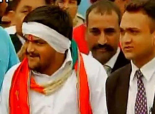 Hardik walks out of jail, says he wants Patels' rights not '56-inch chest'