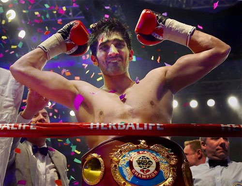Title clinched, Vijender hints at showdown with Khan in India