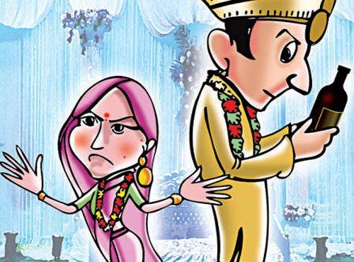Bride finds groom drunk, calls off wedding