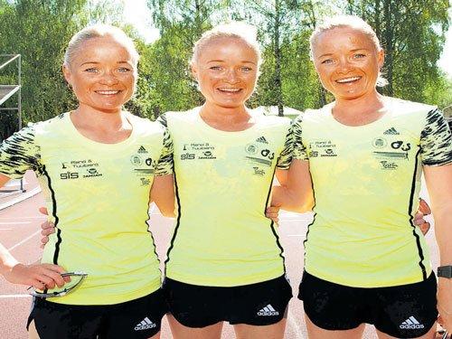 Estonian triplets set for Rio party