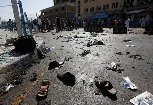 80 killed as twin blasts hit Kabul during protests
