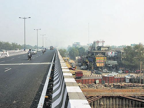 Ex-Congress MP Mishra forcefully opens flyover in Delhi