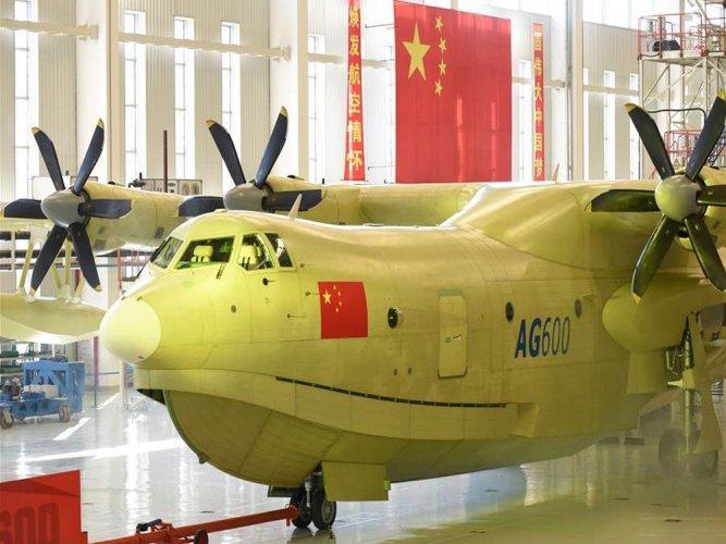 China rolls out massive amphibious aircraft