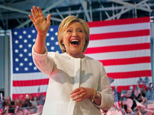 Clinton is 1st woman prez nominee, says glass ceiling cracked
