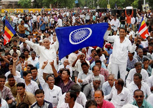 Dalit protests claim 1st victim from community, rally held