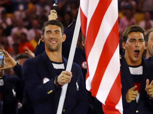 Olympics-Swimming-Phelps takes his 19th Olympic gold