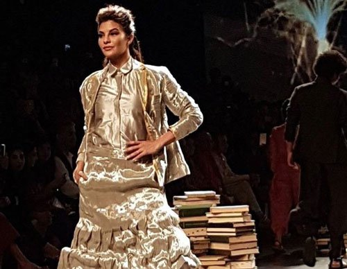 Jacqueline stuns in Rajesh Pratap Singh, as designer misses the show