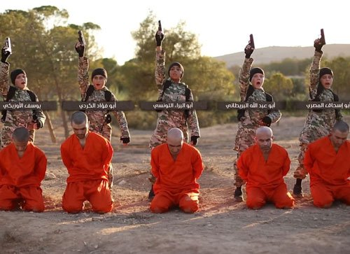 ISIS video shows boys shooting hostage