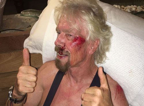 Richard Branson left fearing for his life after bike crash