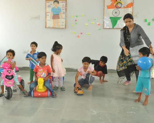 A bank to provide toys to children