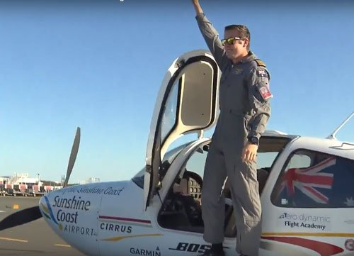 Australian teen pilot becomes youngest to fly solo around the world
