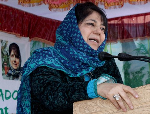 Talks with whosoever is ready to reject violence: Mehbooba