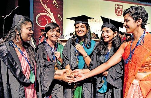 Girl students bag top honours at NLSIUconvocation