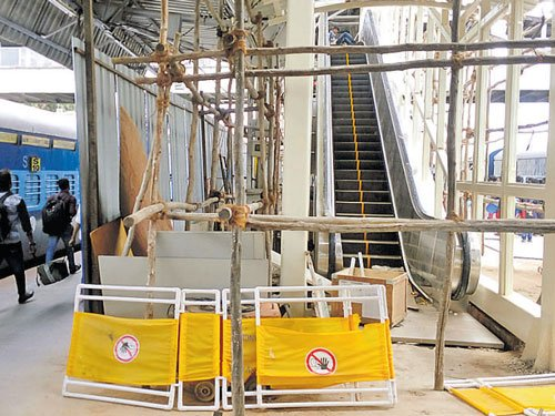 New escalator at city rly station in a fortnight