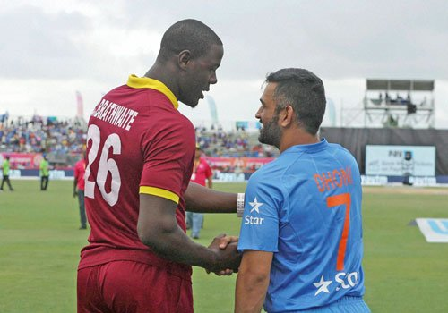 Dhoni, Brathwaite differ on playing conditions