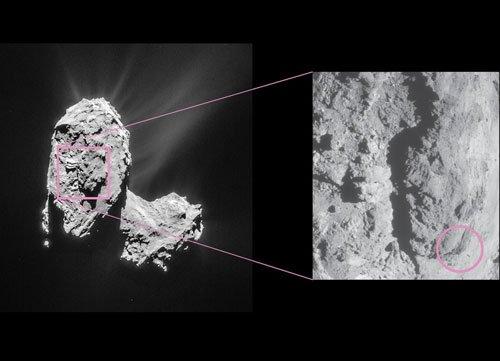 Rosetta space probe captures comet outburst