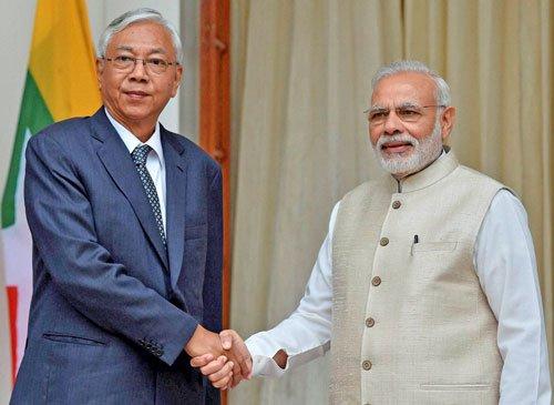 Modi backs Myanmar's bid to end ethnic conflicts