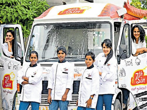 Global food with an Indian twist on wheels