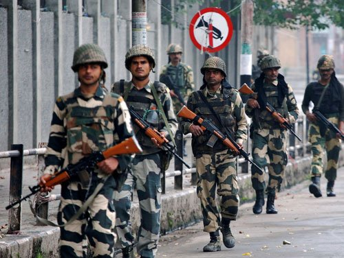 A week after deployment, BSF withdrawn from Kashmir valley