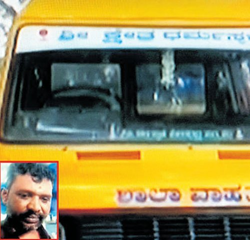 Drunk man drives school bus  with five students onboard