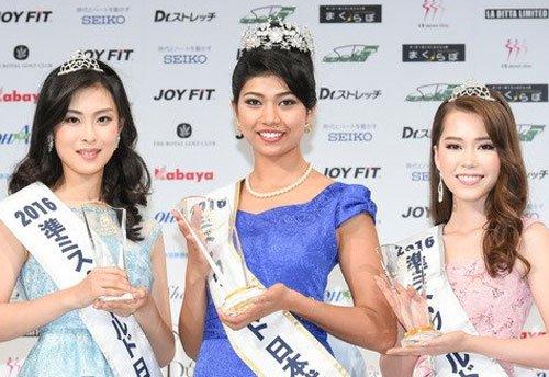 Half-Indian 'elephant whisperer' crowned Miss Japan