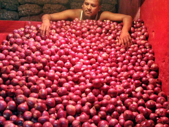 Onion, green gram prices crash