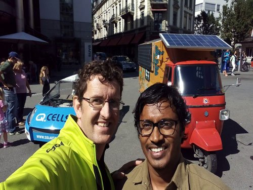 Indian-origin man drives solar auto-rickshaw from India to UK