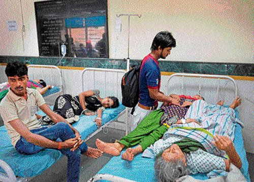 Patients share one bed at govt hospital
