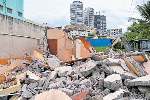 Demolitions carried out in Hosakerehalli