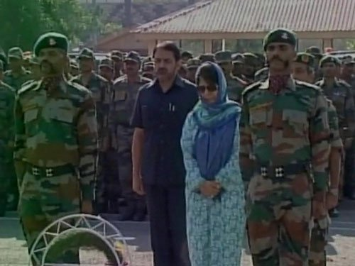Mehbooba pays tributes to soldiers killed in Uri attack