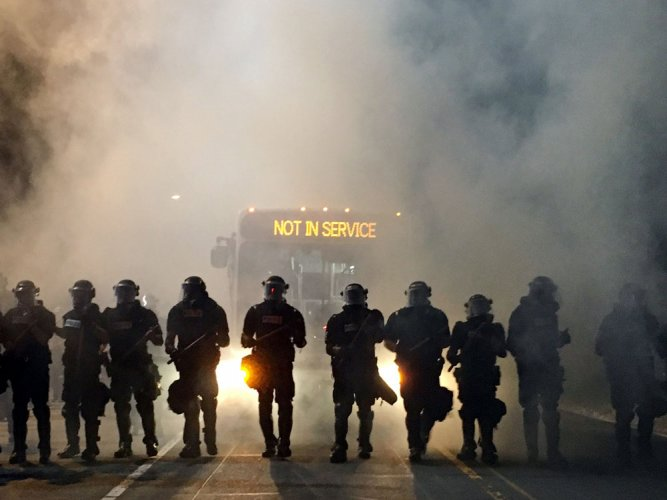 Charlotte under state of emergency in second night of protests