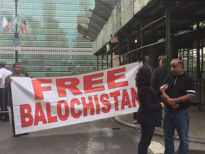 Baloch, Indians protest as Sharif addresses UNGA