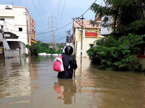 Heavy rains paralyse normal life in AP district; NDRF pressed into service
