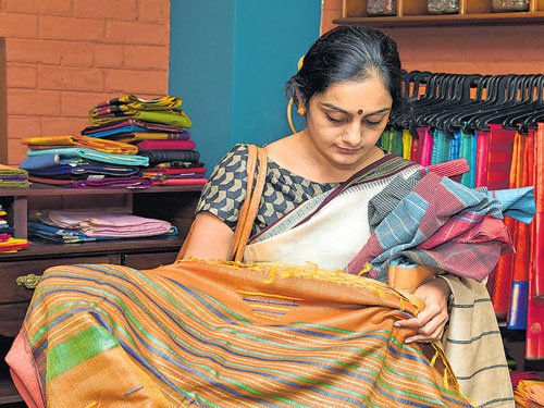 Six yards in a range of hues