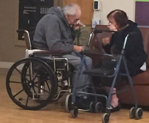 Aged Canadian couple reunited after viral photo of separation