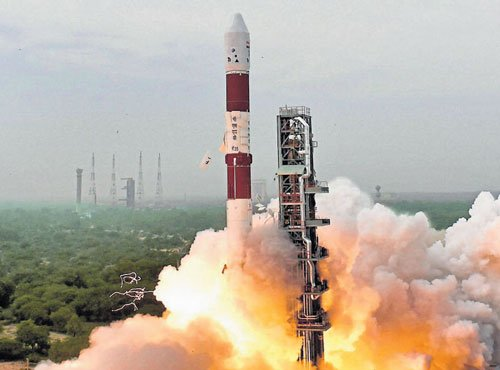PSLV places 8 satellites in two orbits, scripts history