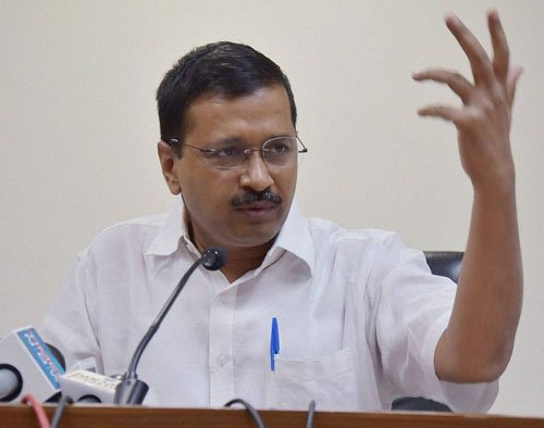 Ink thrown at Kejriwal, two detained