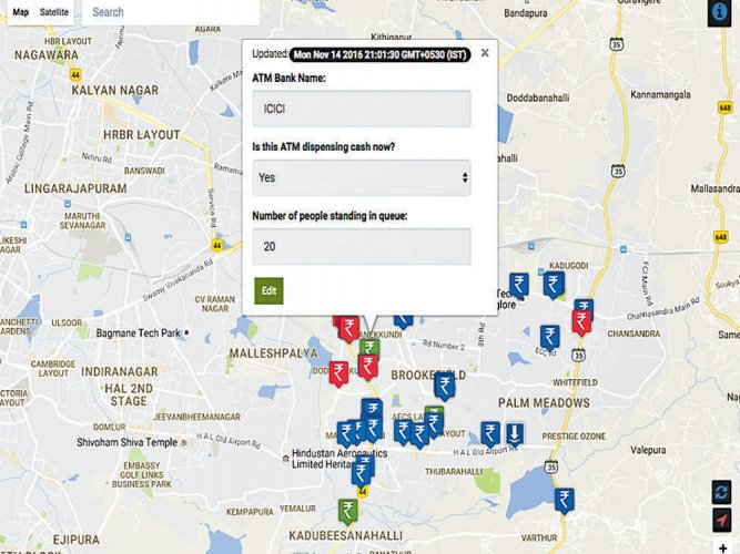 This app helps you locate functional ATMs