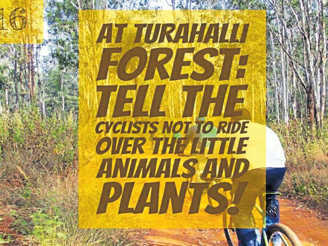 Cycling posing threat to flora, fauna in Turahalli forest
