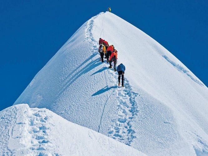 Man & the mountains   Deccan Herald