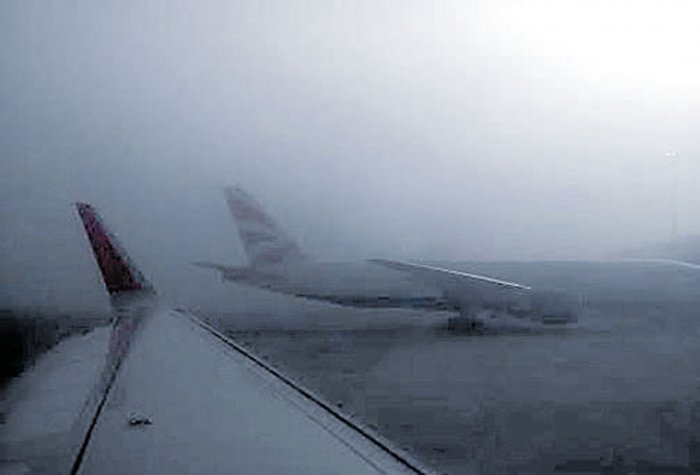 Gloomy start to New Year as fog disrupts flight operations