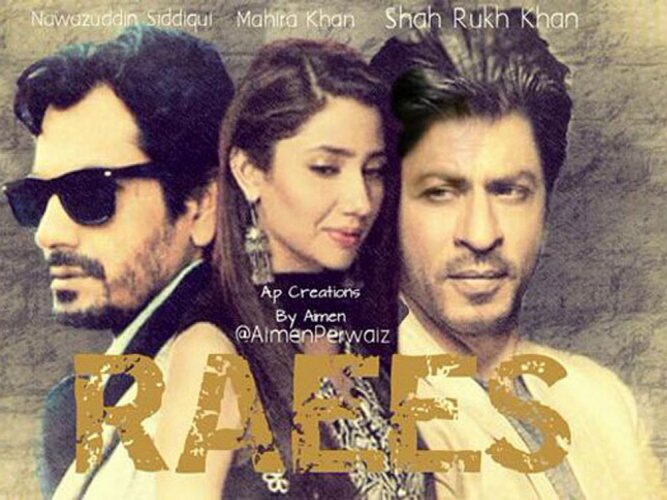 Shah Rukh releases first 'Raees' poster featuring Mahira Khan
