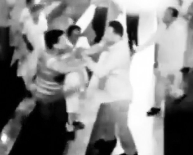 MP caught on cam assaulting doctors